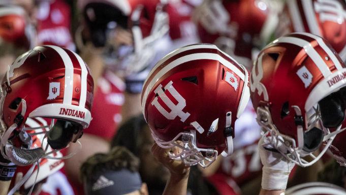 Indiana Hoosiers helmets