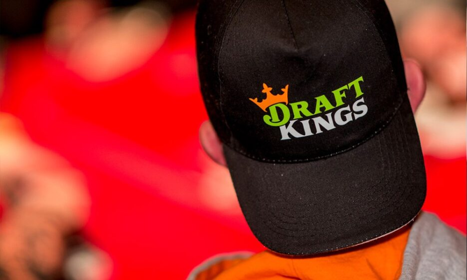 Black cap with DraftKings logo